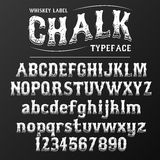 Chalkboard typeface, modern font written on the board with charcoal. Modern font western letters in chalk board style, uppercase and lowercase Royalty Free Illustration
