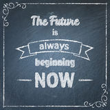 Chalkboard typographic background with quote Royalty Free Stock Image
