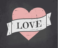 Chalkboard Valentine Card Royalty Free Stock Photos