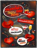 Chalkboard Valentine day party menu. Royalty Free Stock Image