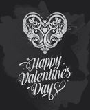 Chalkboard Valentines Day banner greetings card Stock Photography
