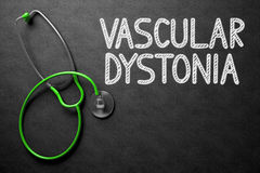 Chalkboard with Vascular Dystonia Concept. 3D Illustration. Royalty Free Stock Photos