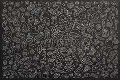 Chalkboard vector hand drawn Doodle  Royalty Free Stock Image