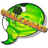 Chalkboard - Vector illustrated comic book style phrase. vector illustration