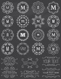 Chalkboard Vintage Circle Frames & Design Elements Royalty Free Stock Images
