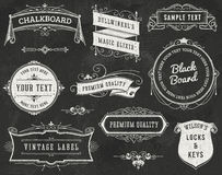Chalkboard Vintage Design Elements Royalty Free Stock Photo