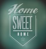 Chalkboard Vintage Home Sweet Home Sign poster Royalty Free Stock Images