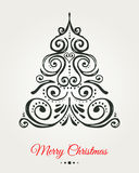 Chalkboard, Vintage style, Christmas Tree Stock Photography