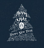 Chalkboard, Vintage style, Christmas Tree Stock Image