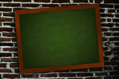 Chalkboard on a wall Royalty Free Stock Photos