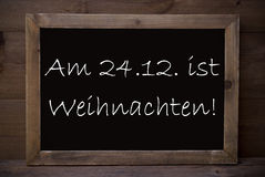 Chalkboard With Weihnachten Means Merry Christmas Royalty Free Stock Images