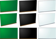 Chalkboard and whiteboard Stock Photography