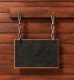 Chalkboard on wood Royalty Free Stock Image