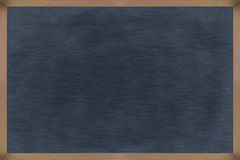Chalkboard wood frame with black surface. Stock Image