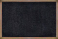 Chalkboard wood frame with black surface. Royalty Free Stock Photography