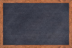 Chalkboard wood frame with black surface. Royalty Free Stock Photo