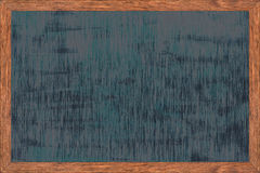 Chalkboard wood frame with black surface. Stock Photo