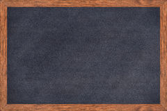 Chalkboard wood frame with black surface. Stock Images