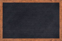 Chalkboard wood frame with black surface. Royalty Free Stock Images