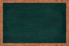 Chalkboard wood frame with green surface. Royalty Free Stock Image