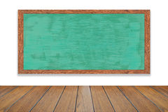 Chalkboard wood frame in room is great for the school concepts. Stock Photos