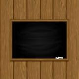 Chalkboard on wooden background Stock Image