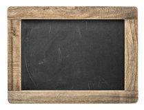Chalkboard with wooden frame. Blackboard isolated Royalty Free Stock Images