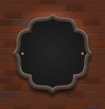 Chalkboard in wooden frame Stock Photos