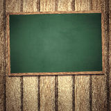 Chalkboard on Wooden Wall Royalty Free Stock Photos