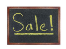 Chalkboard with wording : Sale Royalty Free Stock Images