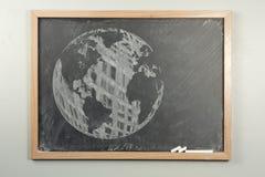 Chalkboard World Globe Royalty Free Stock Photography