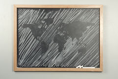 Chalkboard World Map Royalty Free Stock Photography