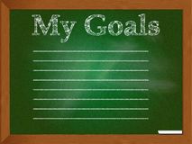 Chalkboard for writing goals Stock Images