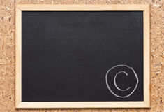 Chalkboard with writing Royalty Free Stock Image