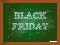 Chalkboard z Black Friday słowami Fotografia Royalty Free