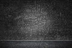Chalkboard z formułami ilustracja wektor