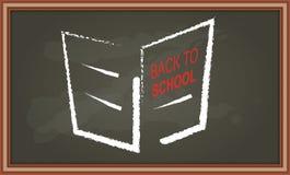 Chalkboard z ręki rysunkową broszurą Obraz Stock