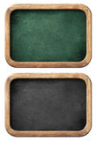 Chalkboards or blackboards set isolated with clipping path Royalty Free Stock Images