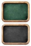 Chalkboards lub blackboards ustawiają odosobnionego z ścinek ścieżką Obrazy Royalty Free