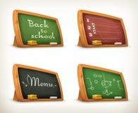 Chalkboards, school sport menu Stock Images