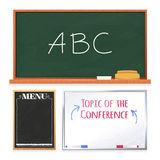 Chalkboards Set  on White Background Stock Image