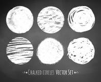 Chalked circles Stock Photo