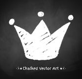 Chalked crown Royalty Free Stock Photo