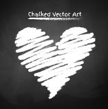 Chalked heart Stock Image