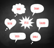 Chalked speech bubbles Stock Image