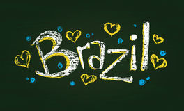 Chalked word Brazil Royalty Free Stock Image