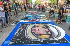 Chalkfest σε Redmond 6 στοκ εικόνα