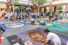 Chalkfest i Redmond arkivbild