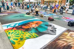 Chalkfest i Redmond 3 arkivfoto