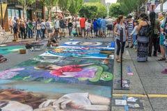 Chalkfest i Redmond 5 arkivfoton